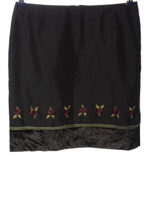 Anna Rita N Mini rok zwart bloemenprint zakelijke stijl
