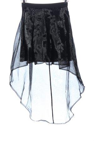 Anna Rita N Mini rok zwart-lichtgrijs wetlook