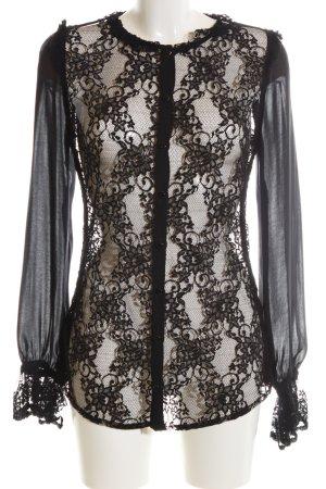 Anna Rita N Kanten blouse zwart elegant