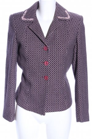 Anna Rossi Cabanjacke lila-pink Allover-Druck Business-Look