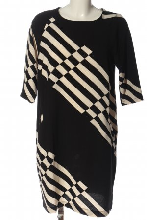 Anna's Dress Affair Midi Dress black-cream striped pattern casual look