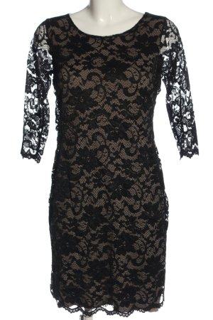 Anna's Dress Affair Kanten jurk zwart casual uitstraling