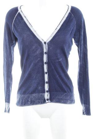 Anna Scott Cardigan dunkelblau-wollweiß Bleached-Optik
