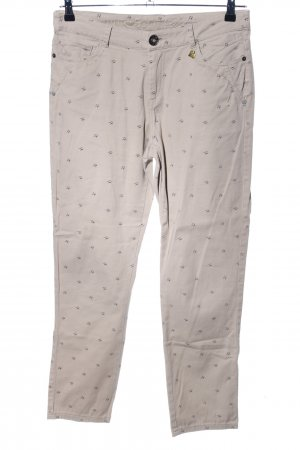 Anna Scott Five-Pocket Trousers natural white-light grey allover print