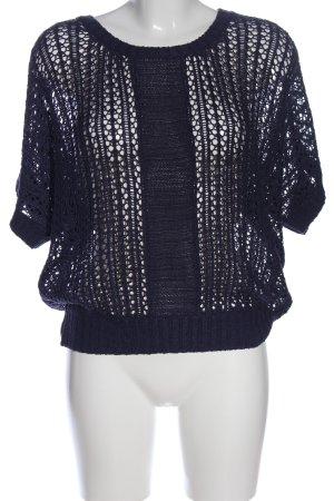 Anna Scott Szydełkowany sweter czarny W stylu casual