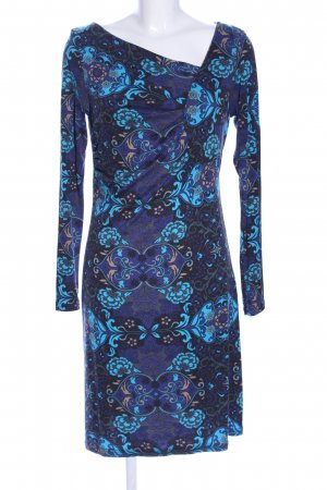 Anna Scott Hippie Dress blue-black abstract pattern casual look