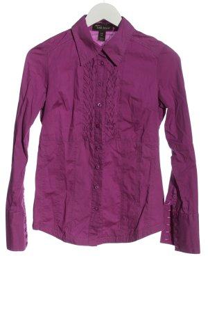 Anna Scott Shirt met lange mouwen lila zakelijke stijl
