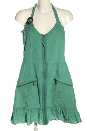 Anna Scott Halter Dress green casual look