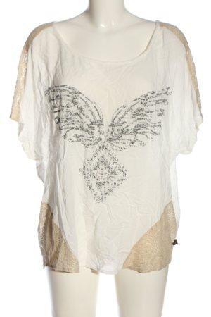 Anna Scott Oversized Shirt weiß-wollweiß Motivdruck Casual-Look