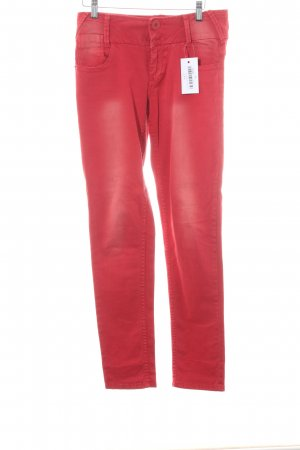 "Anna Scott Jeans slim ""Mojo"" rouge"