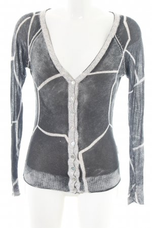 Anna Scott Knitted Cardigan light grey-white flecked casual look