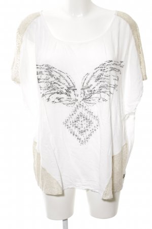 Anna Scott T-Shirt white-natural white abstract pattern casual look