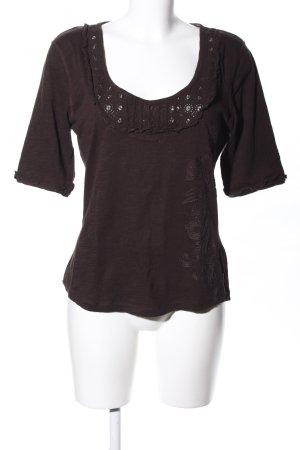 Anna Scott T-shirt brons casual uitstraling