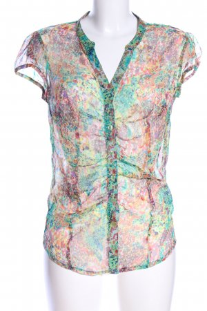 Anna Scott Transparent Blouse abstract pattern casual look