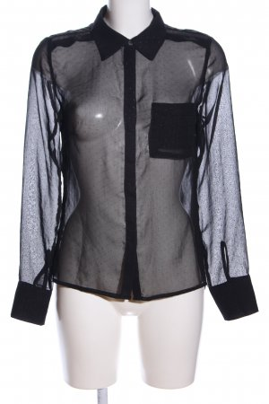 Anna Scott Transparent Blouse black spot pattern extravagant style