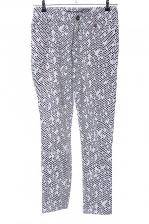 Anna Scott Five-Pocket Trousers black-white allover print casual look