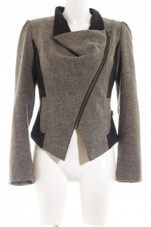 Anna Scott Between-Seasons Jacket natural white-black allover print elegant