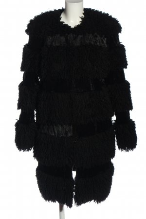 Anna Sui Fur Jacket black casual look