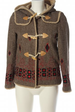 Anna Sui Hooded Coat graphic pattern casual look