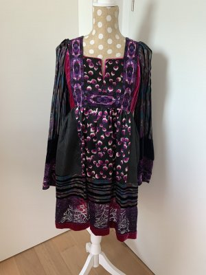 Anna Sui Babydoll Dress multicolored
