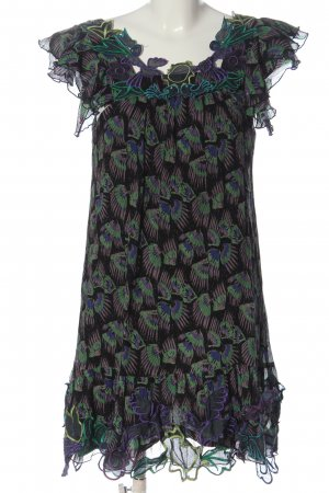 Anna Sui Shortsleeve Dress allover print casual look