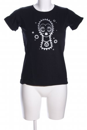 Anna Sui T-Shirt black-white themed print casual look