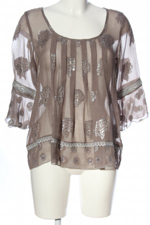 Anna Sui Transparent Blouse brown casual look