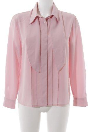 Anna v. Braun Blouse met lange mouwen rosé zakelijke stijl