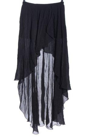 Annabelle Broomstick Skirt black casual look