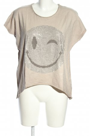 Annaeffe T-Shirt creme Motivdruck Casual-Look