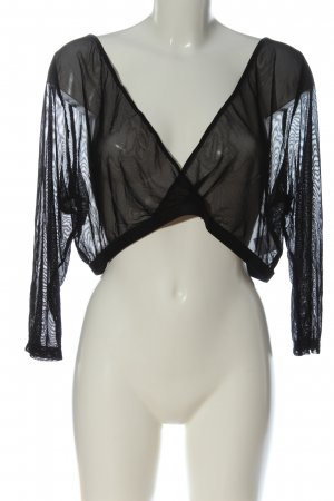 annalisa Transparante blouse zwart casual uitstraling