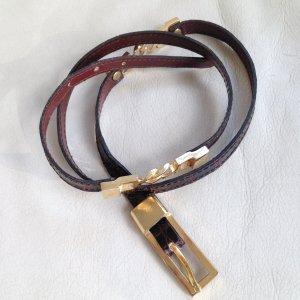 Cinturón de cadera rojo amarronado-amarillo oscuro Cuero