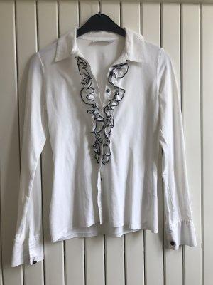 Anne Fontaine Bluzka z falbankami biały