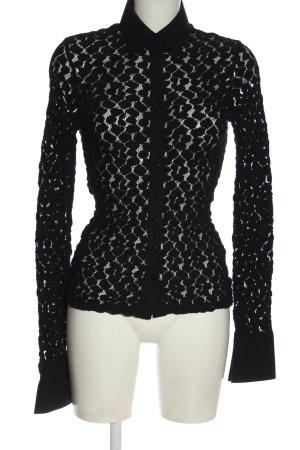 Anne Fontaine Koszulowa bluzka czarny Elegancki