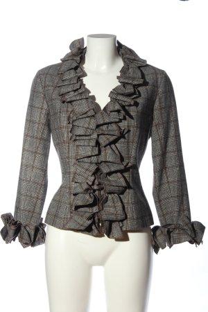 Anne Fontaine Veste mi-saison gris clair-brun motif à carreaux