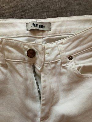Acne Vaquero rectos blanco Algodón