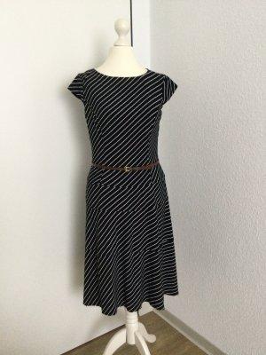 Anne Klein Shortsleeve Dress black-white