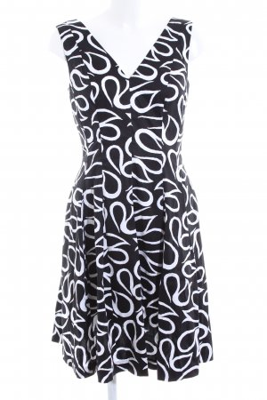 Anne Klein A Line Dress black-white abstract pattern business style