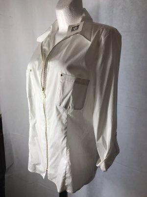 Anne Klein Damen Bluse Weiß mit Gold XL Neu