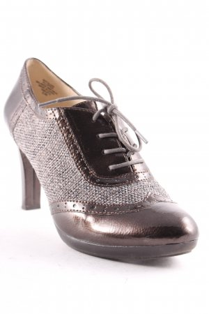 Anne Klein High-Front Pumps bronze-colored-grey patent leather appliqué