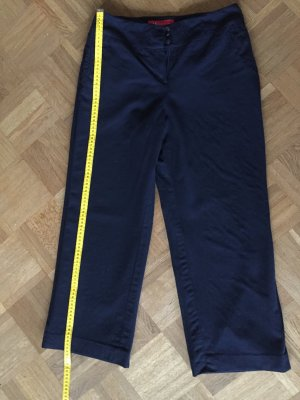 Anne Klein Woolen Trousers dark blue wool