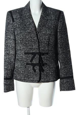 Anne Klein Kurz-Blazer schwarz-weiß grafisches Muster Casual-Look
