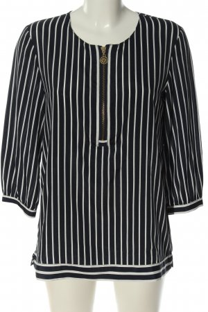 Anne Klein Long Sleeve Blouse black-white striped pattern casual look