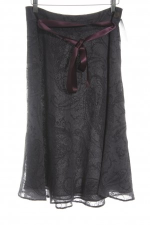 Anne Klein Midi Skirt dark violet-blackberry-red elegant