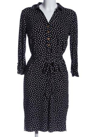 Anne Klein Minikleid schwarz-weiß Allover-Druck Business-Look