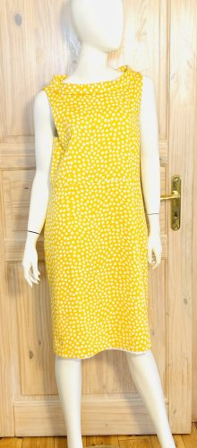 Anne Klein Summer Dress yellow-white cotton