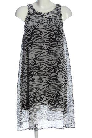 Anne L. A-Linien Kleid weiß-schwarz Casual-Look