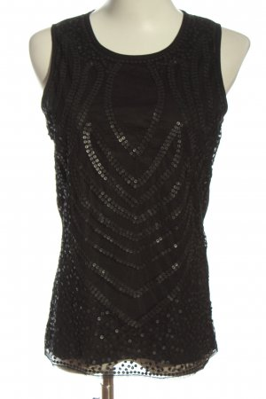 Anne L. Mouwloze blouse zwart casual uitstraling