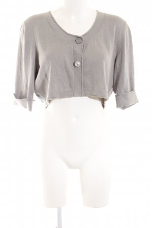 Anne L. Bolero light grey casual look
