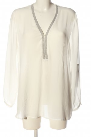Anne L. Glanzende blouse wolwit casual uitstraling